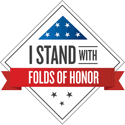I stand with folds of honor