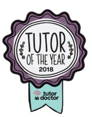 Tutor of the Year award 2018 from Tutor Doctor