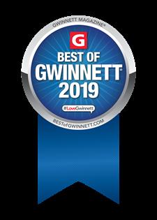 Best of Gwinnett 2019 Ribbon/award  bestofgwinnett.com