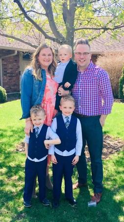Robin Helzerman and family