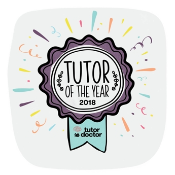 2018 Tutor of the Year from Tutor Doctor
