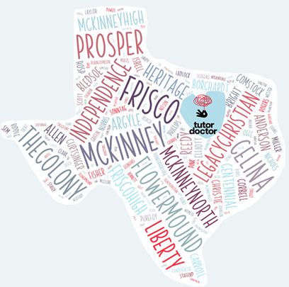 Texas State Graphic With City Names