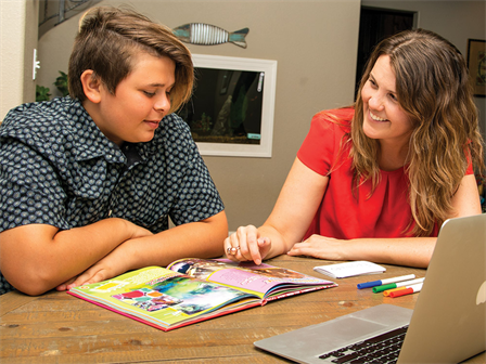 Redding tutor helping a student