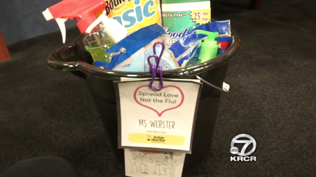 Flu prevention kits for teachers