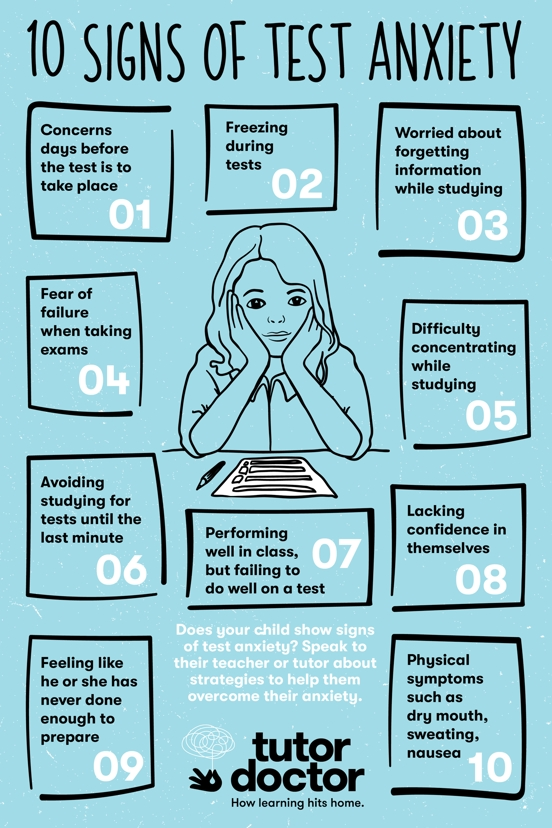 10 signs of test anxiety