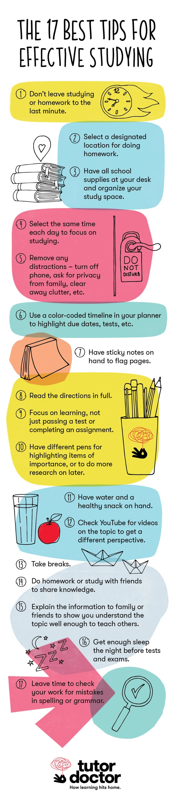 17 Best tips for effective studying from Tutor Doctor
