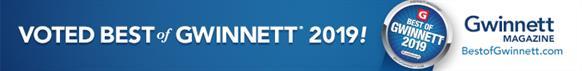 Best of Gwinnett 2019  Logo  banner award voted by Gwinett Magazine  bestofgwinnett.com