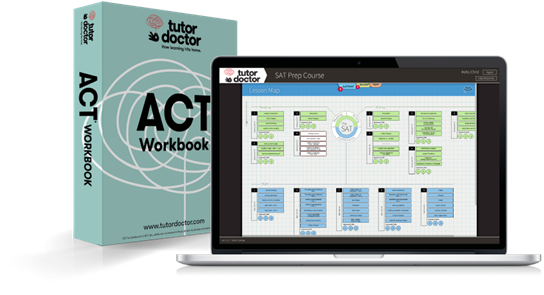 ACT book and laptop image
