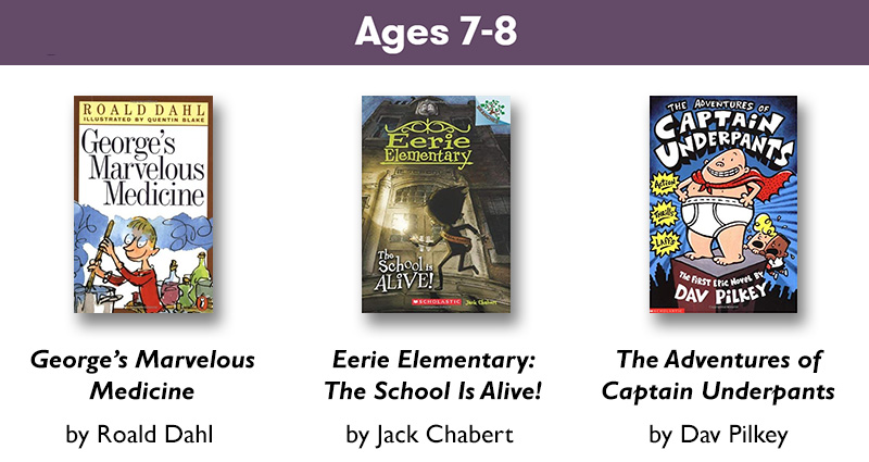Ages 7-8 reading list