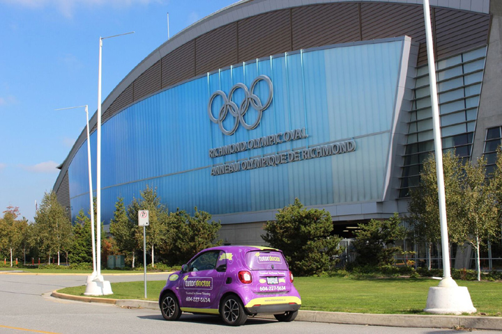 Tutor Doctor Smart Car in Front of Richmond Olympic Oval