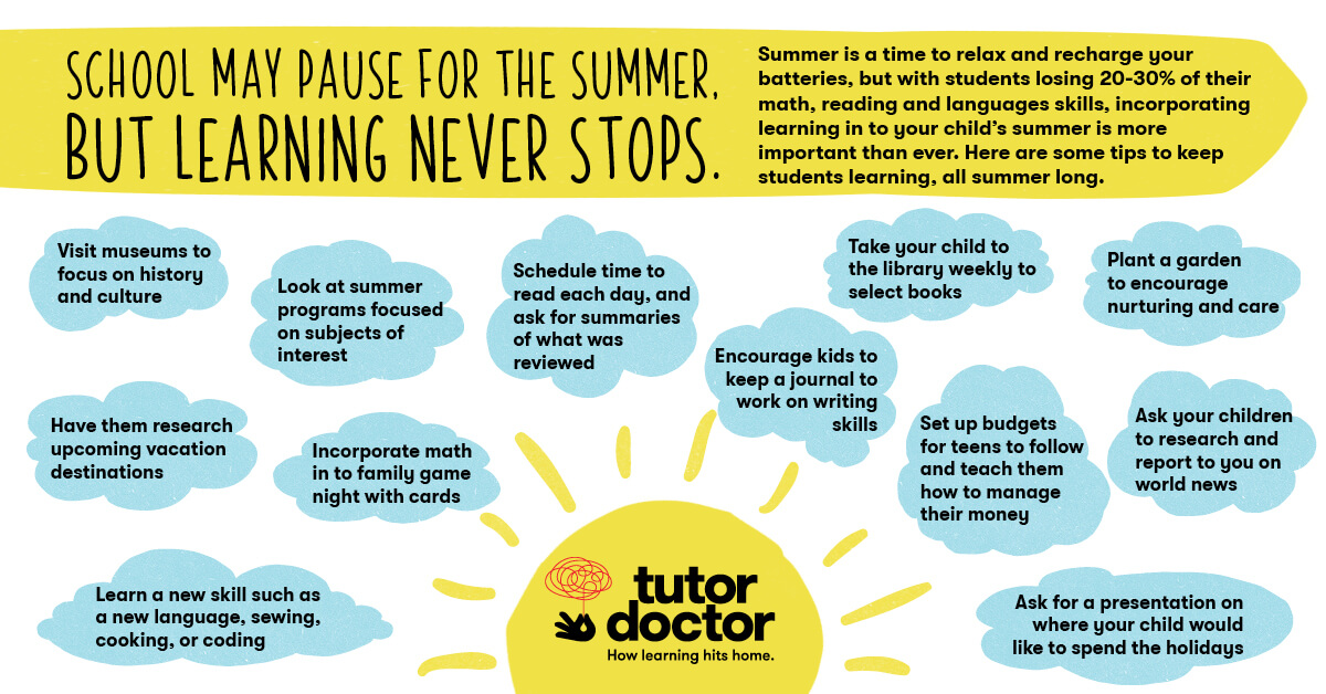 School may pause for the summer, but learning never stops. From Tutor Doctor