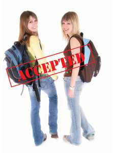Two Students With BackPacks Accepted