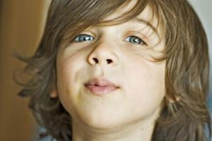Young Boy Looking at Camera