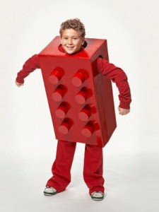 Kid in Lego Costume